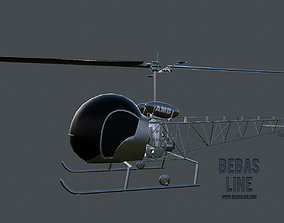 Lowpoly Bell H-13 Sioux 3D model