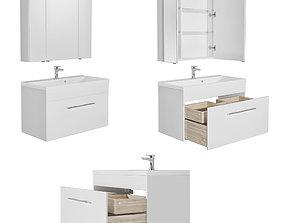 Furniture set August 58-75-100 white gloss 3D model