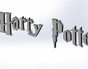 3D model Harry Potter Cookie Cutter Letter