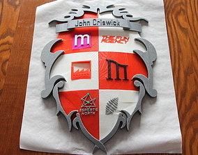 John Criswick Personal Crest 3D print model