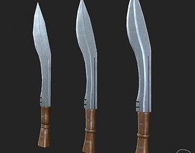 3D asset Combat Knife PBR Specular Mobile LOD