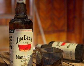3D Jim Beam whiskey