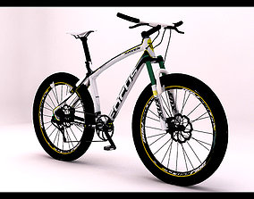 Mountain bike 3D model bicycle