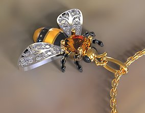 3D print model Bee pendant