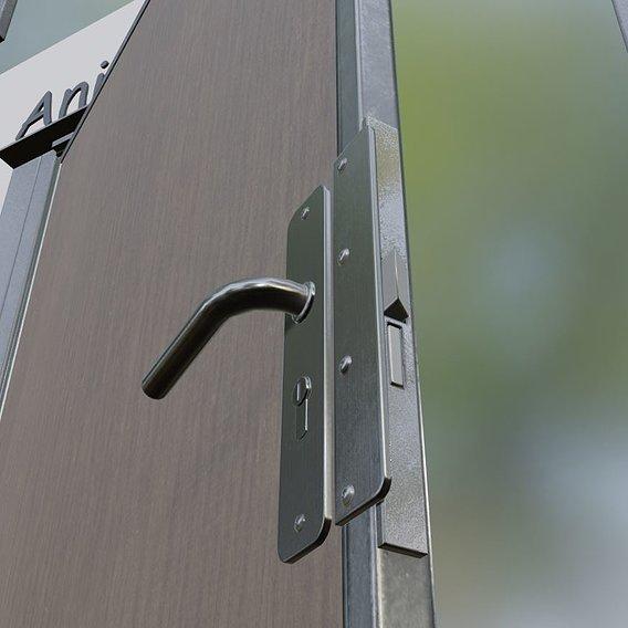Animated Metal Door Version 5 Wood