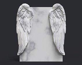 angel wing headstone 3D print model