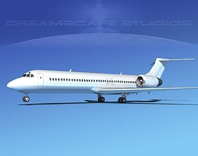 3D Boeing 717-200 Unmarked 1