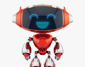 3D model RED CUTE CAT BOT