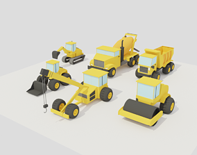 POLYGRUNT - Construction Vehicles 3D model