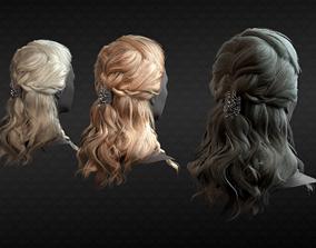 Scandinavian hairstyle 3D model