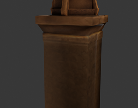 3D model Fire Pillar