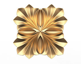 3D asset Rosette Carved Decoration CNC 016