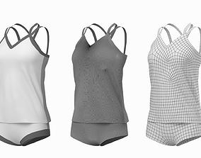 Woman Sportswear 07 Base Mesh Design Kit 3D
