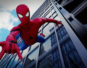 zbrush rigged Spiderman Homecoming 3D Model Rigged