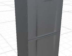 Refrigerator low poly 3D model