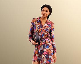3D asset Rose 11752 - Elegant Woman Standing Holding Her