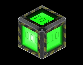 Space Cube Power Up 3D asset