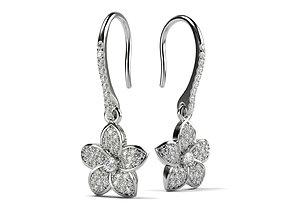 3D printable model Earrings Flower Petals