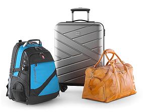 Travel bag set 3D model