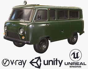 3D model UAZ 452 2206 Military