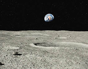 3D Moon Surface 002