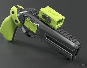 3D model Gameready Sci fi pistol