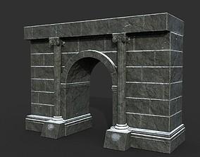 Low poly Ancient Roman Ruin Construction 02 - 3D asset 1