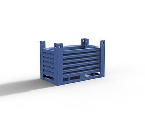 Steel container 3D print model