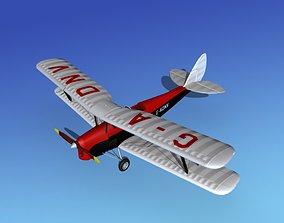 Dehavilland DH82 Tiger Moth V13 3D model