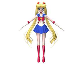 Sailor Moon 3D asset