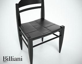 Billiani Vincent VG side chair black 3D model