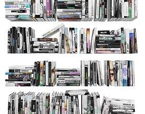 3D asset Books 150 pieces 4-3-2