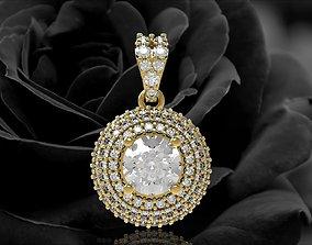 3D printable model 349 Diamond Pendant for women