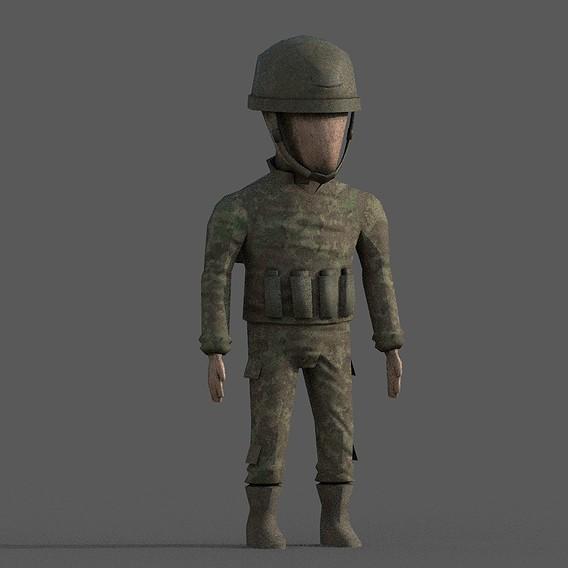 Lowpoly PBR Soldier