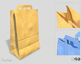 3D asset Paper Bag PBR Low poly
