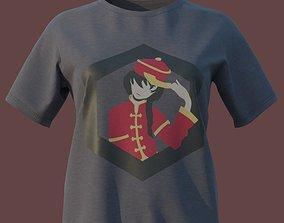 3D asset Women T-Shirt