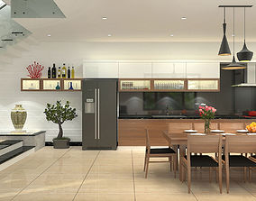 3D model Diningroom and Livingroom tropical