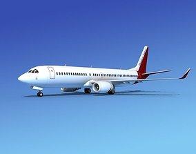 3D Boeing 737-800 Monaco Tours