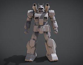 face 3D print model Guncannon Heavyarms