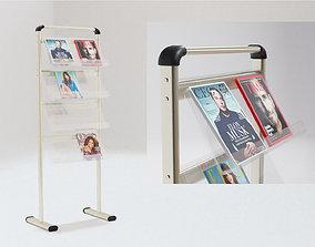 A4 Handout Flyer Magazine Brochure stand holder 3D model