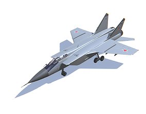 MIG-31 Foxhound Jet Fighter Aircraft 3D asset