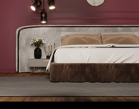 bedroom interior 3d scene model