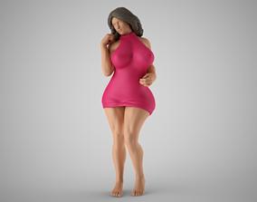 Woman Home Mood 6 recline 3D print model