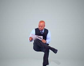 3D Business Man Reading Newspaper BMan0201-HD2-O02P02-S