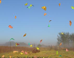 3D model BUTTERFLIES ANIMATION