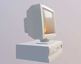 3D asset Old desktop pc and monitor