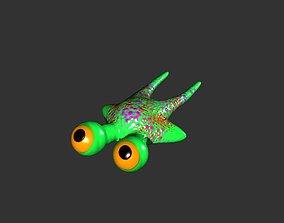 3D model 2 Eyes Manta Frog