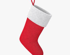 Christmas sock VrayFur 3D model bow