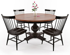Dining Table Set 3D asset
