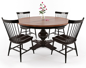 Dining Table Set 3D asset